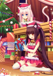 Rating: Questionable Score: 111 Tags: animal_ears chocolat christmas neko_para nekomimi pantsu shimapan thighhighs vanilla xiaoyin_li User: blooregardo