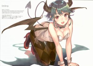 Rating: Safe Score: 52 Tags: fixed heels horns leotard pantyhose pointy_ears raemz tail weee wings User: hiroimo2