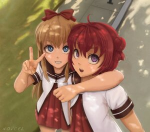 Rating: Safe Score: 11 Tags: akaza_akari novcel seifuku signed toshinou_kyouko yuru_yuri User: mattiasc02