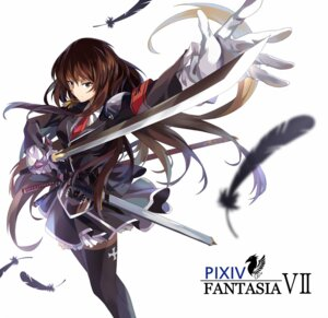 Rating: Safe Score: 34 Tags: neko_(yanshoujie) pixiv_fantasia sword thighhighs User: fairyren