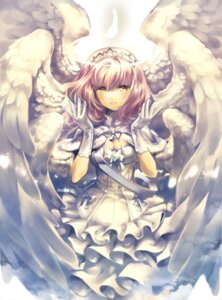 Rating: Safe Score: 37 Tags: bunwo cleavage dress wings User: charunetra