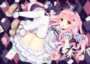 Rating: Safe Score: 134 Tags: alice alice_in_wonderland cleavage dress w.label wasabi_(artist) weapon User: yong
