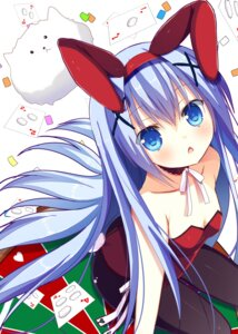 Rating: Questionable Score: 71 Tags: animal_ears bunny_ears bunny_girl cleavage fumuyun gochuumon_wa_usagi_desu_ka? kafuu_chino pantyhose tail tippy_(gochuumon_wa_usagi_desu_ka?) User: donicila