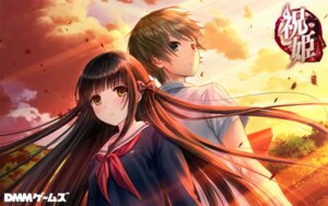 Rating: Safe Score: 26 Tags: dmm_games iwaihime kazuharu_kina seifuku wallpaper User: moonian