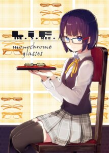 Rating: Safe Score: 42 Tags: life_is_free megane seifuku shirabi thighhighs User: nphuongsun93