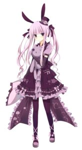 Rating: Safe Score: 48 Tags: animal_ears bunny_ears gothic_lolita kitsunegami lolita_fashion megane User: hobbito