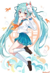 Rating: Safe Score: 17 Tags: hatsune_miku noneon319 official_watermark seifuku skirt_lift vocaloid User: DreamingCats