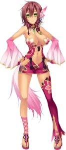 Rating: Safe Score: 63 Tags: baseson cleavage heels katagiri_hinata koihime_musou no_bra taishiji_shigi User: Radioactive