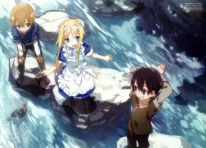 Rating: Safe Score: 49 Tags: abec alice_schuberg dress eugeo kirito sword_art_online sword_art_online_alicization User: AltY
