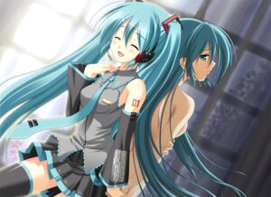 Rating: Questionable Score: 45 Tags: hatsune_miku naked skywaker thighhighs vocaloid User: yumichi-sama