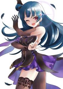 Rating: Safe Score: 11 Tags: cosplay fischl_(genshin_impact) fishnets genshin_impact love_live!_sunshine!! tagme thighhighs tsushima_yoshiko User: Mr_GT