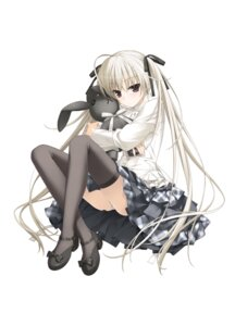 Rating: Questionable Score: 57 Tags: haruka_na_sora hashimoto_takashi pantsu sphere thighhighs yosuga_no_sora User: Twinsenzw