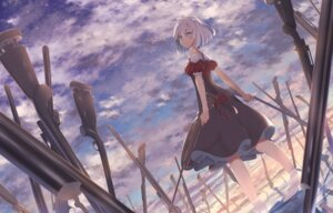 Rating: Safe Score: 29 Tags: akausuko dress gun knives_out landscape User: charunetra