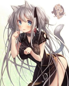 Rating: Safe Score: 98 Tags: animal_ears chinadress mabinogi nao nekomimi tail usamata User: Mr_GT