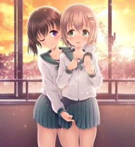 Rating: Questionable Score: 65 Tags: alc kuraue_hinata seifuku skirt_lift yama_no_susume yukimura_aoi yuri User: blooregardo