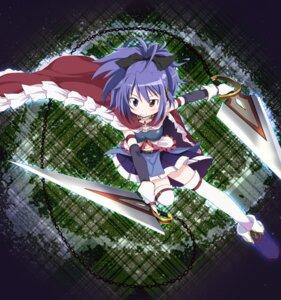 Rating: Safe Score: 16 Tags: abe_kanari heterochromia miki_sayaka puella_magi_madoka_magica sakura_kyouko sword thighhighs User: Nekotsúh