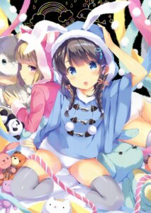 Rating: Questionable Score: 101 Tags: animal_ears bunny_ears ohara_tometa pantsu thighhighs User: Twinsenzw