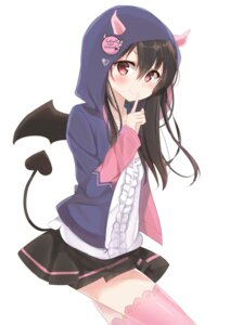 Rating: Safe Score: 31 Tags: horns kanata_(pixiv16607937) love_live! tail thighhighs wings yazawa_nico User: sym455