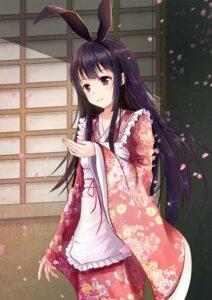 Rating: Safe Score: 48 Tags: animal_ears bunny_ears houraisan_kaguya kimono reki_(artist) touhou User: Romio88