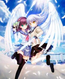 Rating: Safe Score: 18 Tags: angel_beats! gun key na-ga seifuku skirt_lift tagme tenshi thighhighs wings yurippe User: marechal