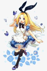 Rating: Safe Score: 17 Tags: alice alice_in_wonderland dress heels sakura_chiyo_(konachi000) thighhighs User: Mr_GT