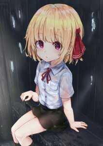 Rating: Safe Score: 22 Tags: rumia see_through seifuku skirt_lift touhou wet wet_clothes wowoguni User: yanis