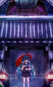Rating: Safe Score: 17 Tags: daikazoku63 hatsune_miku seifuku umbrella vocaloid User: charunetra