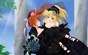 Rating: Safe Score: 13 Tags: cleavage dress fate_testarossa jpeg_artifacts mahou_shoujo_lyrical_nanoha mahou_shoujo_lyrical_nanoha_a's mahou_shoujo_lyrical_nanoha_strikers takamachi_nanoha User: ylh741