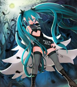 Rating: Safe Score: 32 Tags: gorgeo hatsune_miku heels thighhighs vocaloid User: Humanpinka