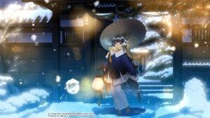Rating: Safe Score: 22 Tags: kimono kirino_kasumu landscape suishou_shizuku umbrella User: hirotn