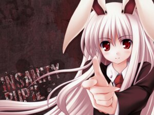 Rating: Safe Score: 26 Tags: animal_ears bunny_ears reisen_udongein_inaba tateha touhou wallpaper User: Anonymous