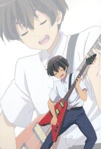 Rating: Safe Score: 4 Tags: chuunibyou_demo_koi_ga_shitai! guitar isshiki_makoto male User: fireattack
