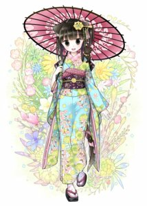 Rating: Safe Score: 33 Tags: animal_ears kimono kuroinu nekomimi tail umbrella User: Mr_GT