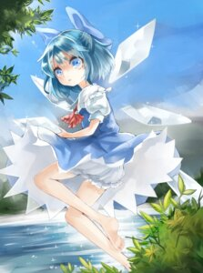 Rating: Safe Score: 13 Tags: bloomers cirno dress skirt_lift touhou wings zhu_xing User: Mr_GT