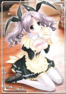 Rating: Questionable Score: 41 Tags: bra breasts jpeg_artifacts kimizuka_aoi maid nipples open_shirt stockings thighhighs User: marvell