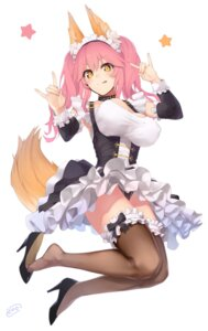 Rating: Safe Score: 67 Tags: animal_ears caster_(fate/extra) enosan fate/grand_order heels maid pantsu tail thighhighs User: Mr_GT