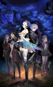 Rating: Safe Score: 25 Tags: armor cleavage cornelius dress george_kamitani griselda gwendolyn odin_(odin_sphere) odin_sphere oswald pantsu sword thighhighs velvet weapon wings User: chli