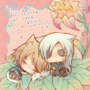 Rating: Safe Score: 9 Tags: animal_ears chibi lamento male nitroplus_chiral tail yuupon User: Radioactive