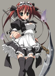 Rating: Safe Score: 34 Tags: airi maid queen's_blade suzuri thighhighs User: Radioactive