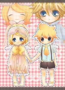 Rating: Safe Score: 6 Tags: gochi_ta kagamine_len kagamine_rin vocaloid User: charunetra
