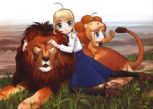Rating: Safe Score: 5 Tags: chibi fate/stay_night hirai_yukio saber saber_lion User: Radioactive