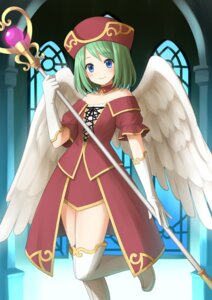 Rating: Safe Score: 16 Tags: chrono_(artist) thighhighs wings User: 椎名深夏