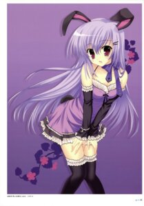 Rating: Safe Score: 52 Tags: animal_ears bunny_ears dress mitha thighhighs User: YamatoBomber