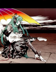 Rating: Safe Score: 8 Tags: guitar hatsune_miku headphones nagimiso nagimiso.sys vocaloid User: Radioactive