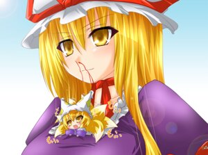Rating: Safe Score: 7 Tags: blood jpeg_artifacts kazami_karasu touhou yakumo_ran yakumo_yukari User: Mr_GT