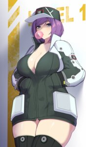 Rating: Questionable Score: 16 Tags: a-1_bloodypanther cleavage ett01024 last_origin no_bra open_shirt thighhighs User: Mr_GT