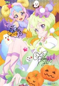 Rating: Safe Score: 18 Tags: aikatsu! aikatsu_stars! autographed dress futaba_aria halloween hanazono_kirara horns watanabe_satomi wings User: drop