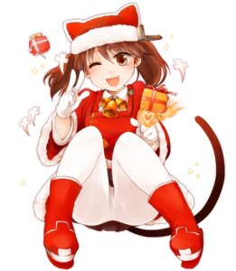 Rating: Safe Score: 17 Tags: akatsuki_rito christmas kantai_collection pantyhose ryuujou_(kancolle) tail User: Mr_GT