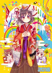 Rating: Safe Score: 26 Tags: animal_ears chibi kimono neko nekomimi sakura_oriko User: Mr_GT