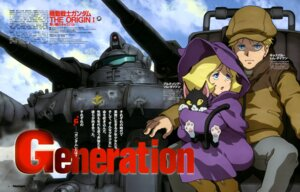 Rating: Safe Score: 10 Tags: char_aznable gun gundam gundam_the_origin kotobuki_tsukasa mecha mobile_suit_gundam neko sayla_mass weapon User: drop